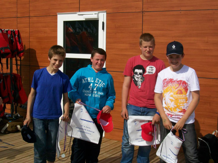 finale régionale du challenge du jeune rameur 2012, Terry et Théo 1 du département et 3 de la région